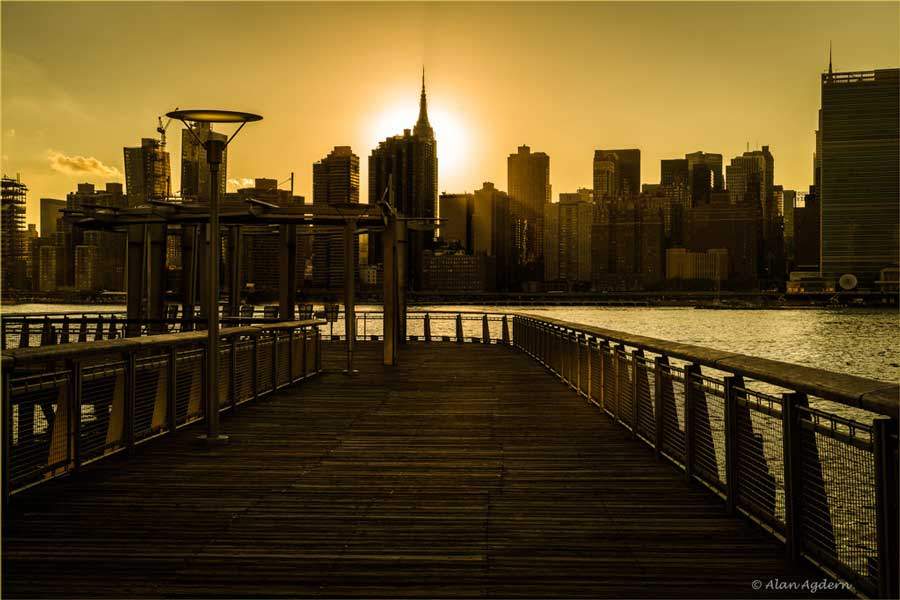 Sunset at Gantry Park image